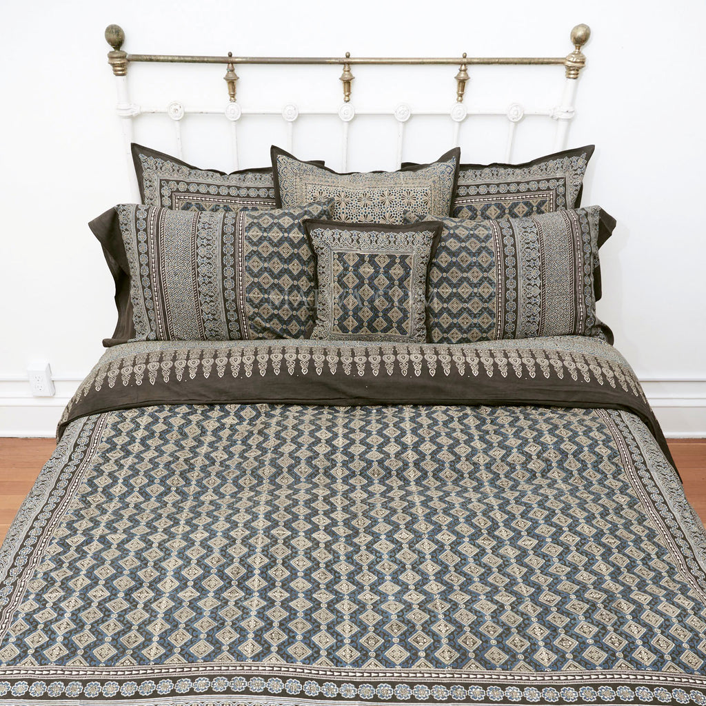 Organic Cotton King Duvet - Ajrakh Diamond
