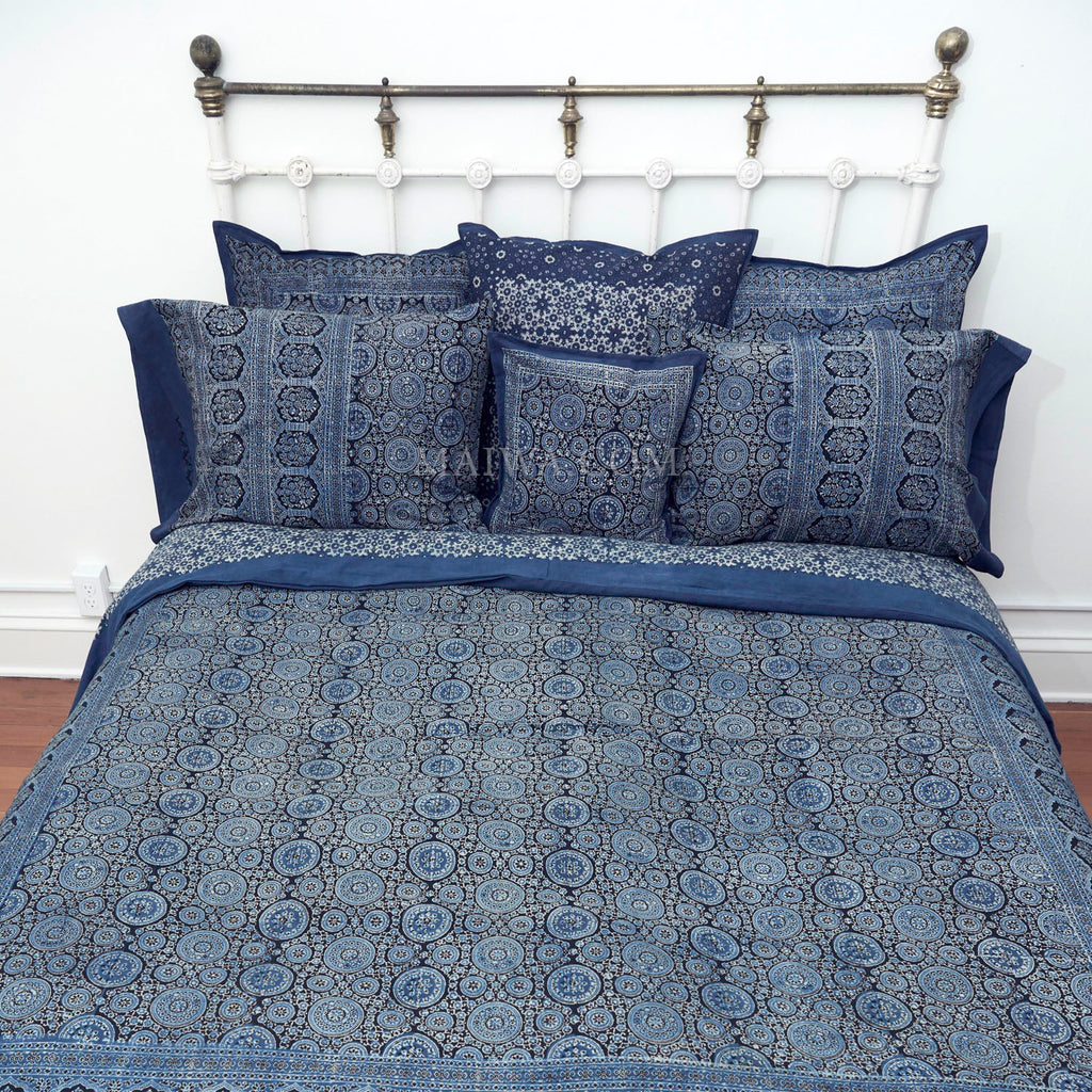 Organic Cotton King Duvet - Ajrakh Monsoon