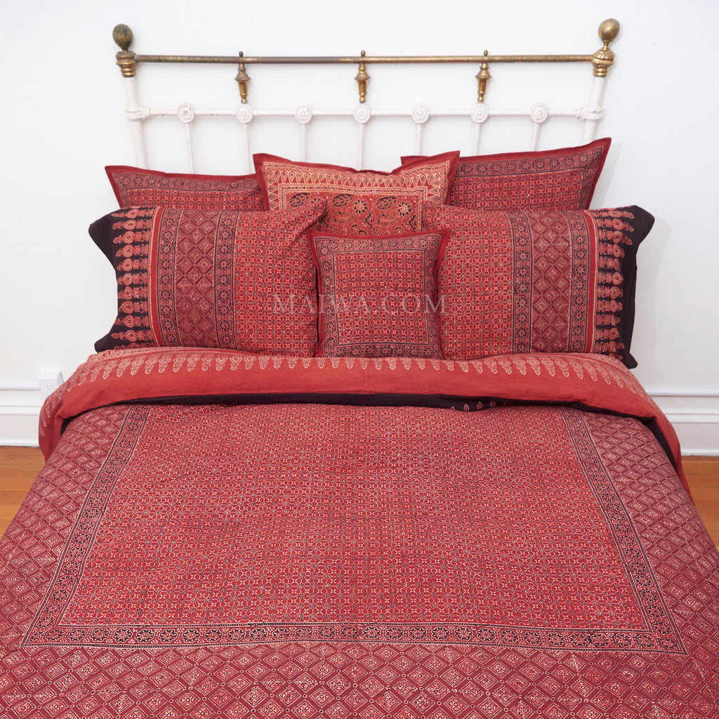 Organic Cotton King Duvet - Ajrakh Madder