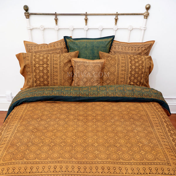 Organic Cotton King Duvet - Ajrakh Tile