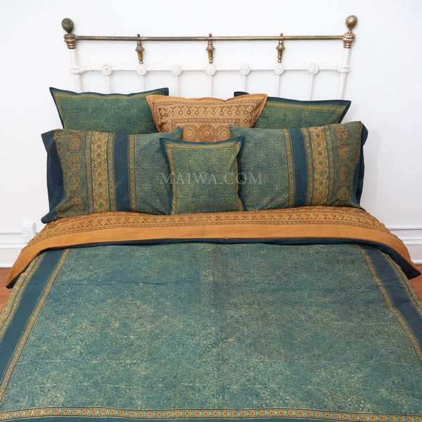 Organic Cotton Queen Duvet - Ajrakh Patina