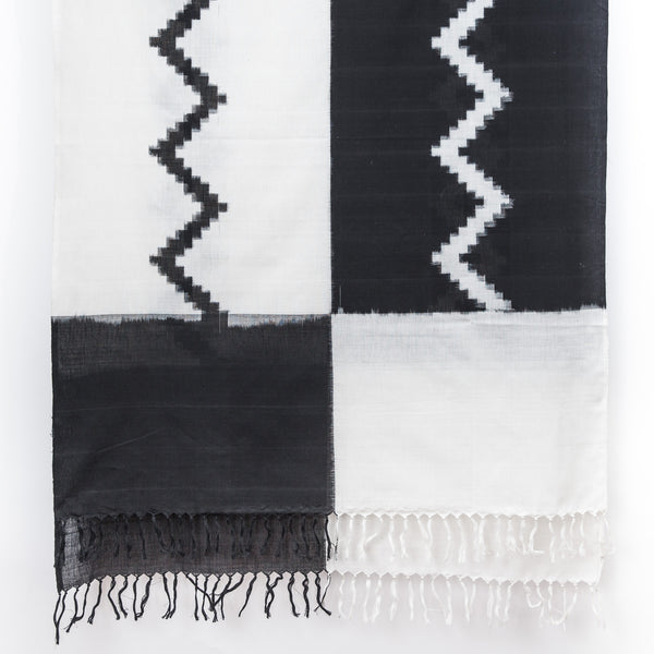 Night & Day Ikat Cotton Shawl