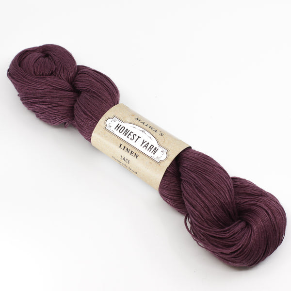 Honest Yarn - Naturally Dyed Organic Linen - Aubergine