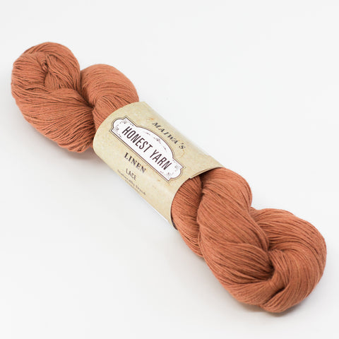 Honest Yarn - Naturally Dyed Organic Linen - Laterite