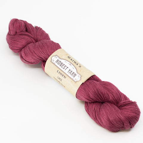 Honest Yarn - Naturally Dyed Organic Linen - Garnet