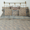 Organic Cotton King Duvet - Kalamkari - Indigo Bloom