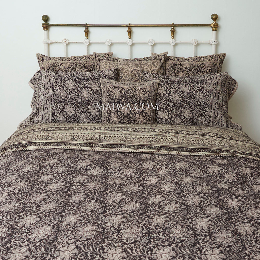 Organic Cotton King Duvet - Midnight Blossom