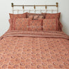 Organic Cotton King Duvet - Burgundy Lotus