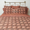 Organic Cotton King Duvet - Kalamkari - Rose & Black Bloom