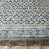 Organic Cotton Tablecloth - Kalamkari - Indigo Palm