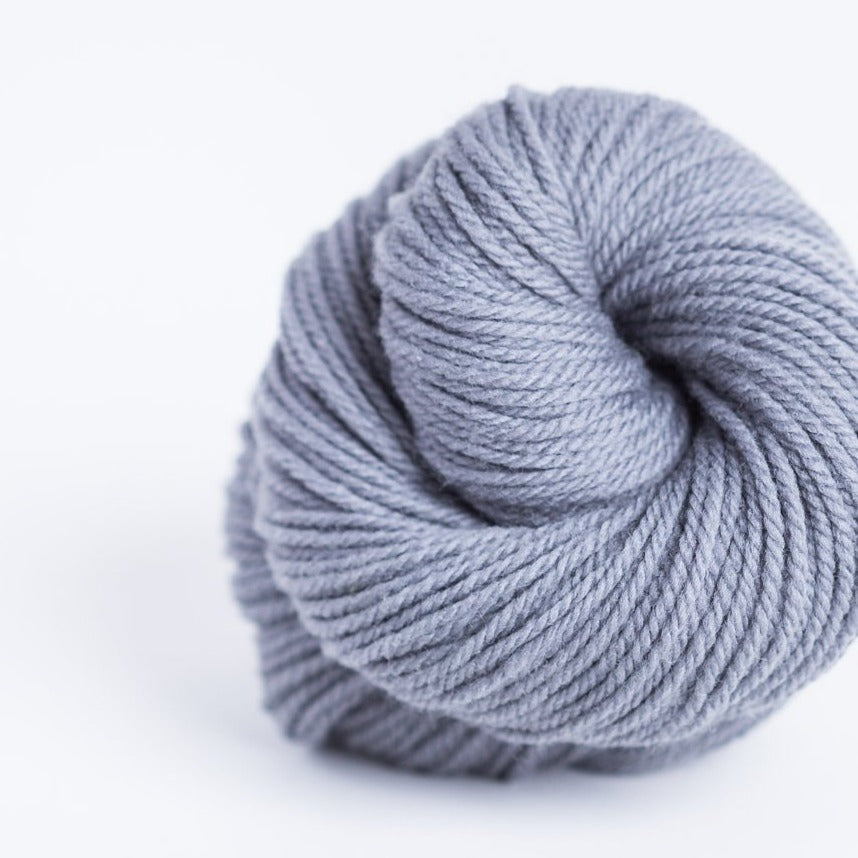 Brookly Tweed Heron grey Arbor 3-ply wool DK weight yarn, worsted spun American Targhee