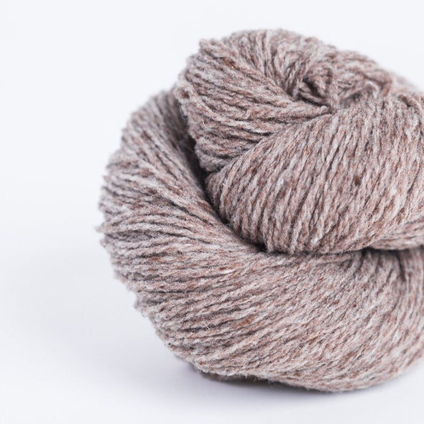 Brooklyn Tweed Barn Owl taupe 2-ply fingering weight yarn, wool spun from Targhee-Columbia wool