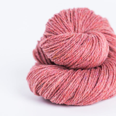 Brooklyn Tweed Camper rose 2-ply fingering weight yarn, wool spun from Targhee-Columbia wool