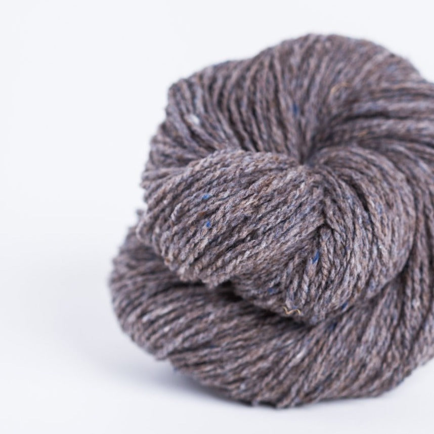 Brooklyn Tweed Stormcloud grey 2-ply fingering weight yarn, wool spun from Targhee-Columbia wool