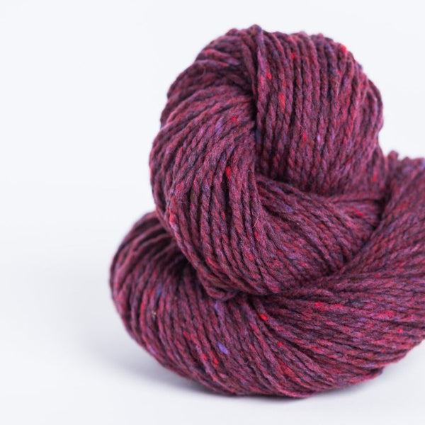 Brooklyn Tweed homemade jam 2-ply worsted-weight yarn made with American Targhee-Columbia wool