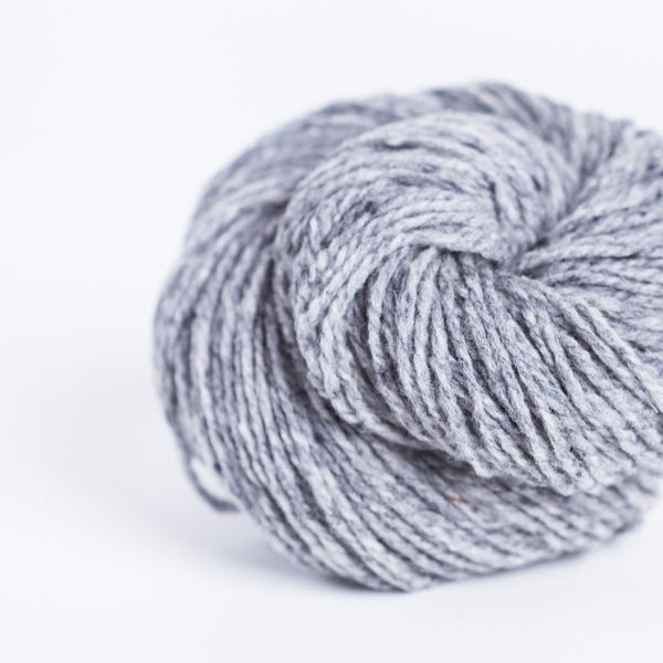 Brooklyn Tweed sweatshirt grey 2-ply worsted-weight yarn made with American Targhee-Columbia wool