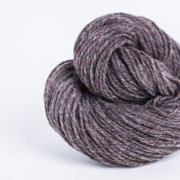 Brooklyn Tweed Truffle Hunt Brown 2-ply worsted-weight yarn made with American Targhee-Columbia wool