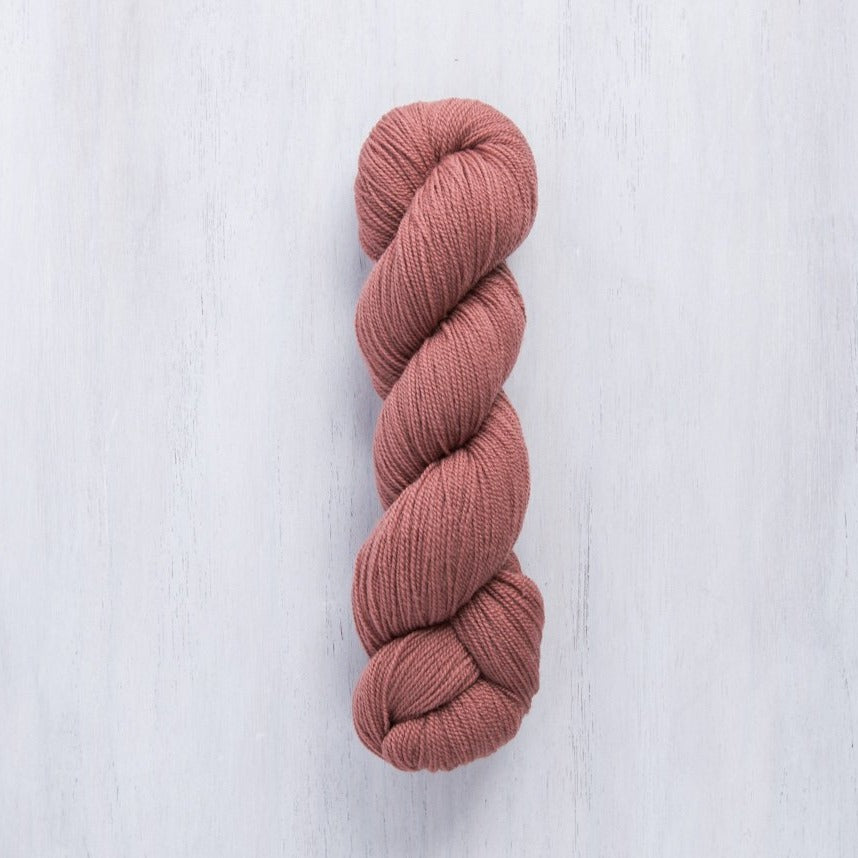 Brooklyn Tweed Vale Barberry lace-weight 2-ply wool yarn made from American Rambouillet wool