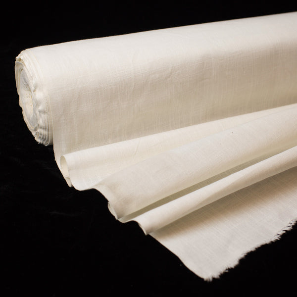 Fabric - Cotton Organic Plain Weave Slub