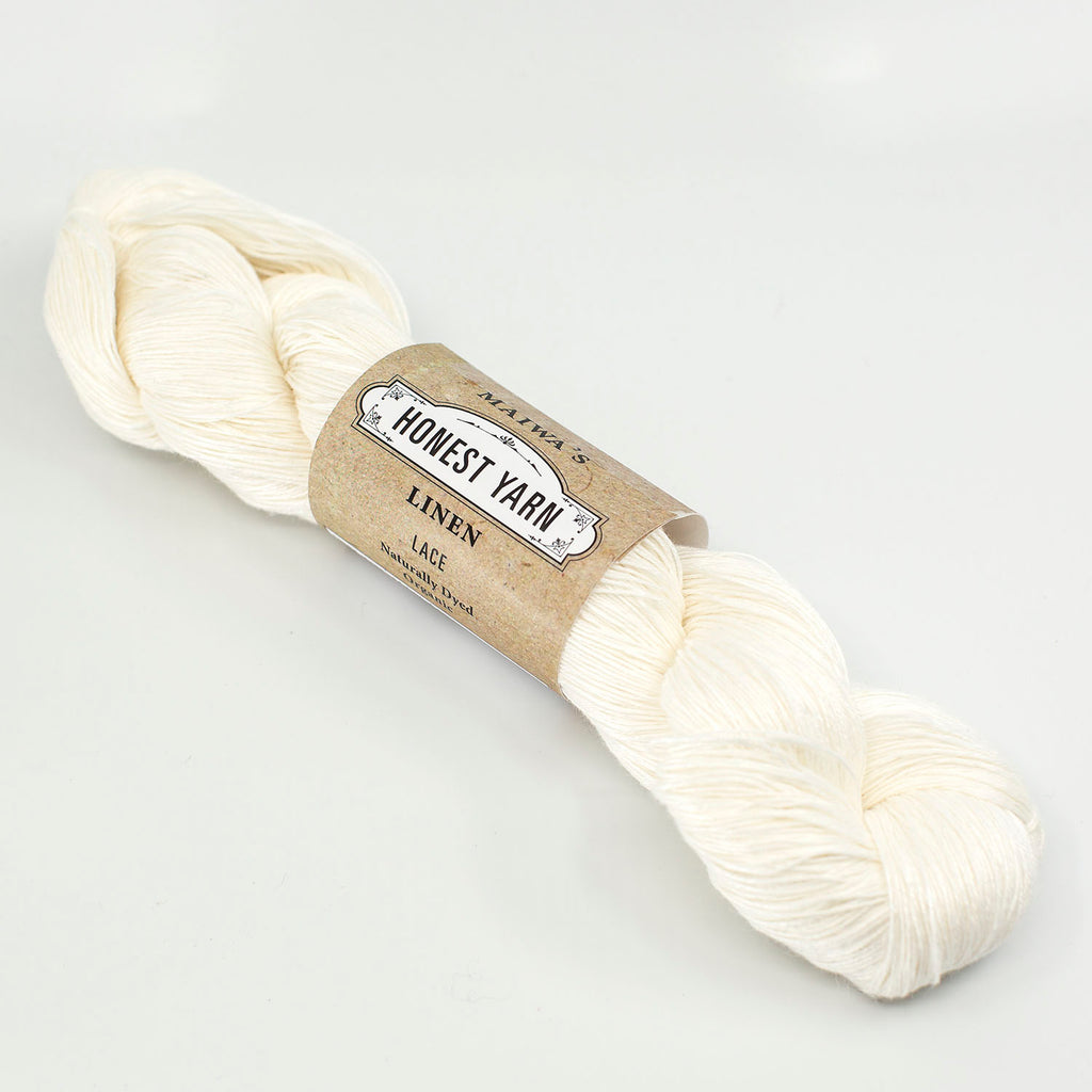 Honest Yarn - Organic Linen - White Undyed