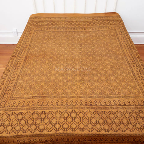 Organic Cotton Queen Sheet - Ajrakh Tile