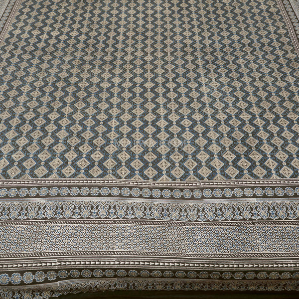 Organic Cotton Rectangular Tablecloth - Ajrakh Diamond