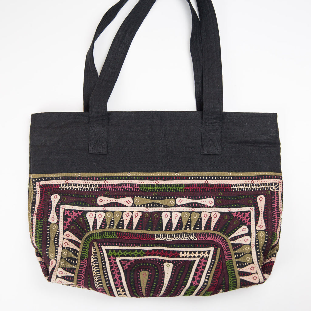 Kachchh Embroidery Linen Bag - Dhebaria Pattern 1