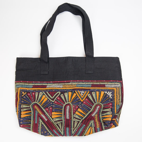 Kachchh Embroidery Linen Bag - Dhebaria Pattern 2