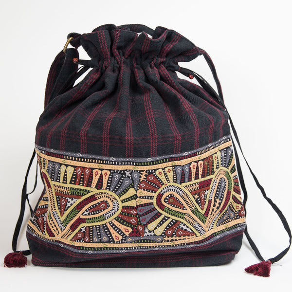 Dhebaria Drawstring Cinch Bag - Pattern 3