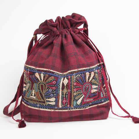 Dhebaria Drawstring Cinch Bag - Pattern 2