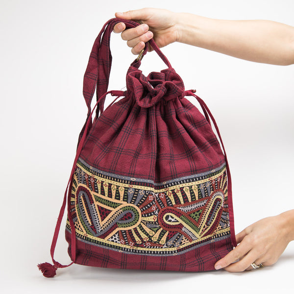 Dhebaria Drawstring Cinch Bag - Pattern 1