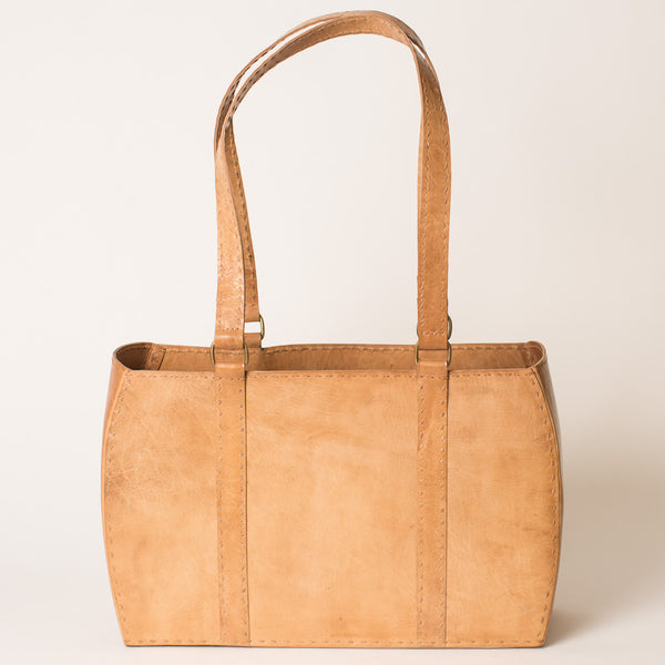 Leather Carrier Bag - Tan