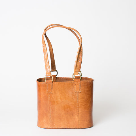 Leather Walkabout Bag Small - Tan