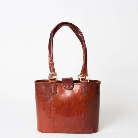 Leather Walkabout Bag Small - Red