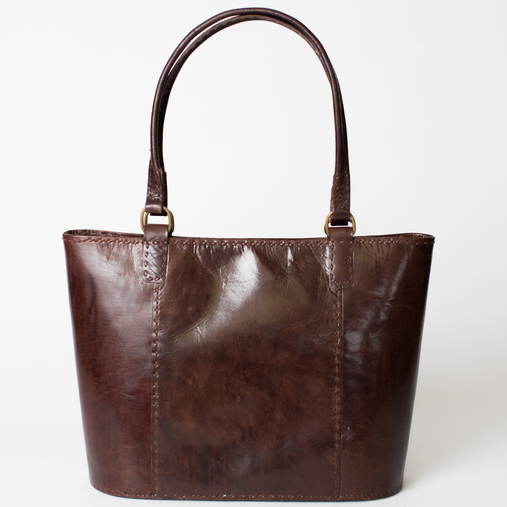 Leather Walkabout Bag Large - Brown