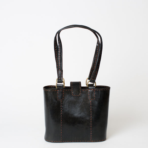 Leather Walkabout Bag Small - Black