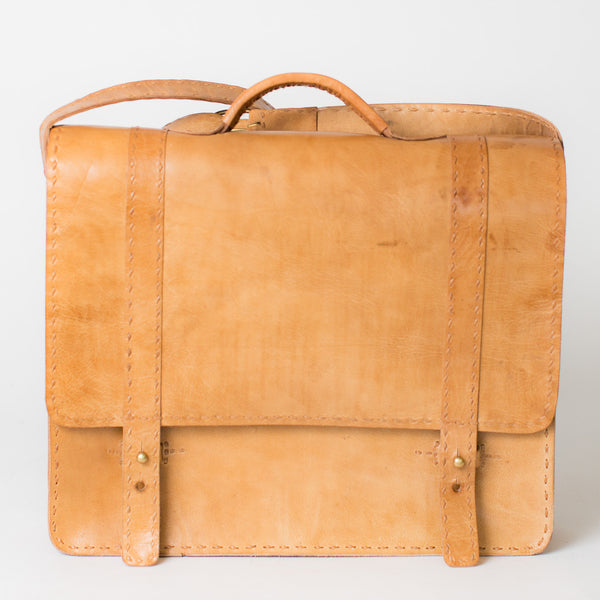 Leather Portfolio Briefcase - Tan