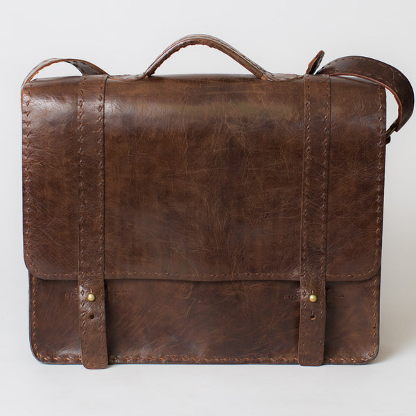 Leather Portfolio Briefcase - Brown