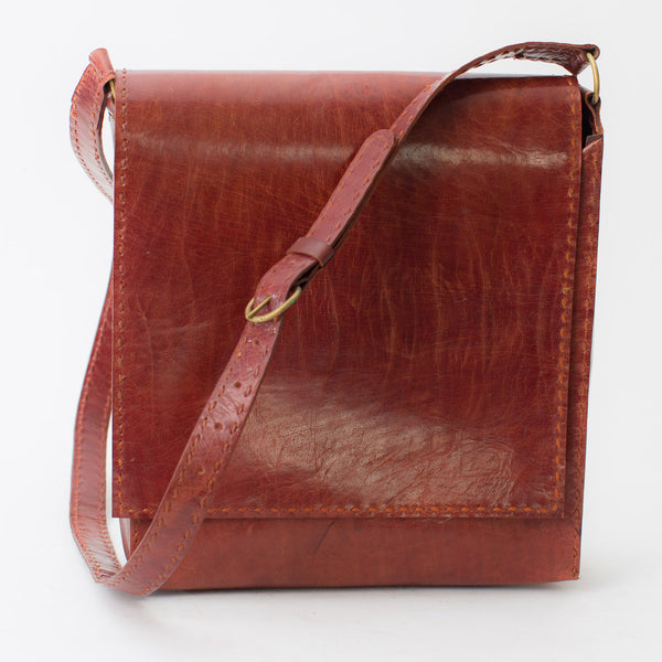 Leather Workday Bag Medium - Red