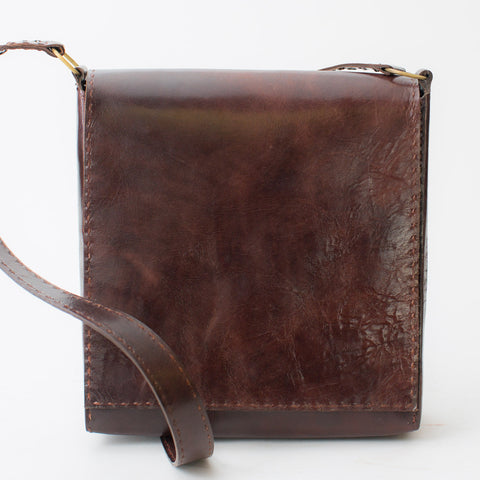 Leather Workday Bag Medium - Brown