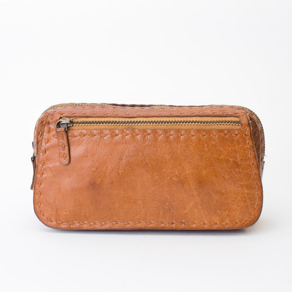 Leather Organizer Pouch - Tan