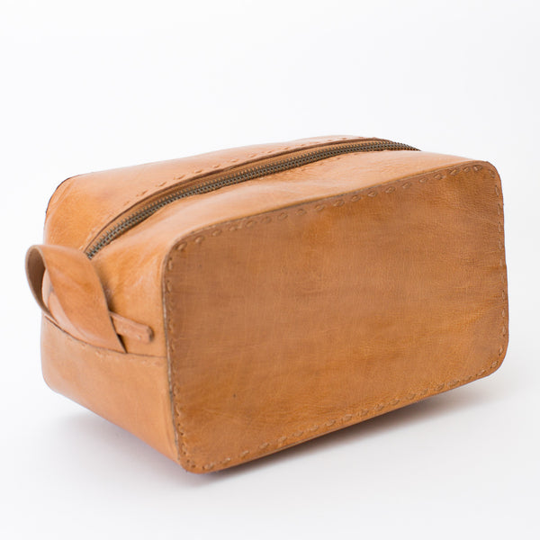 Leather Travel Pouch - Tan