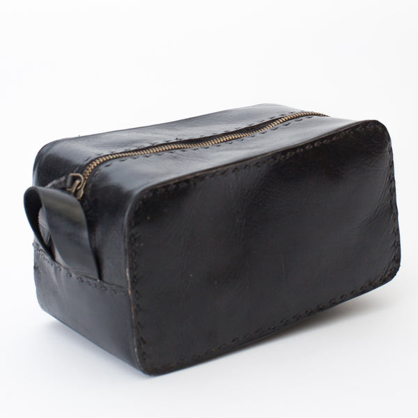 Leather Travel Pouch - Black