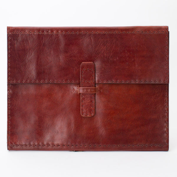 Leather Folder - Red
