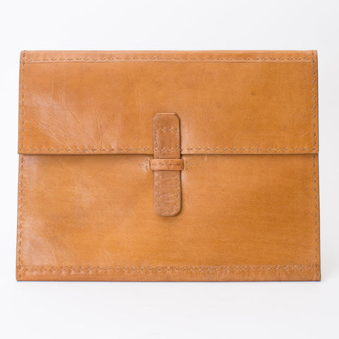 Leather Folder - Tan