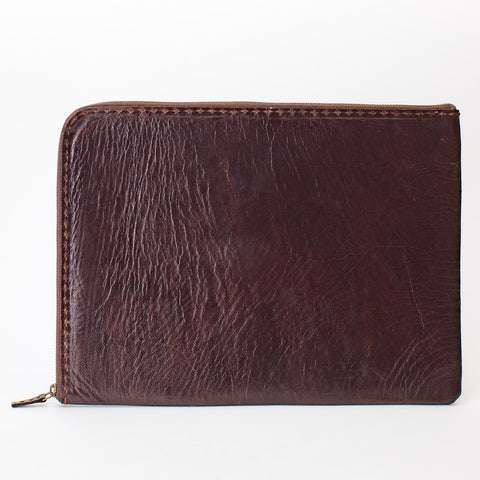 Leather Computer Case - Brown