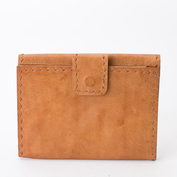 Leather Wallet Double Sided - Tan