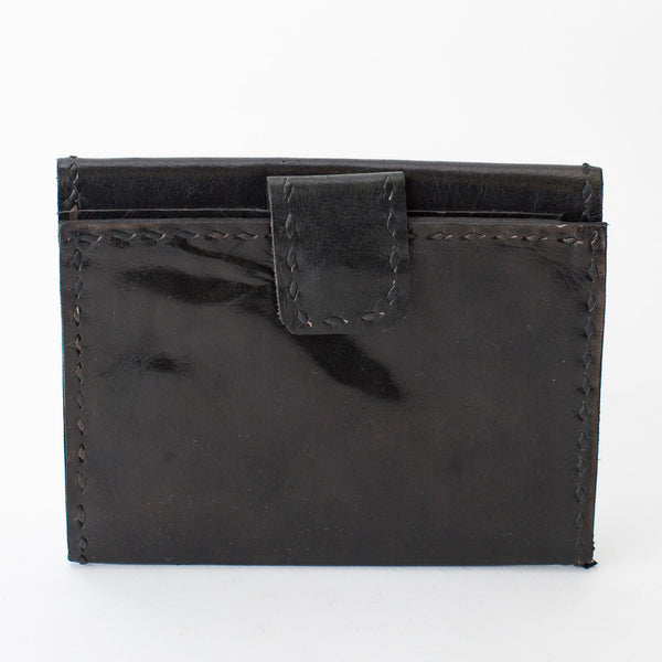 Leather Wallet Double Sided - Black