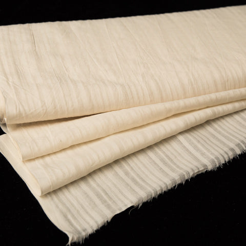 **Sample** - Cotton Natural Uneven Stripe Design
