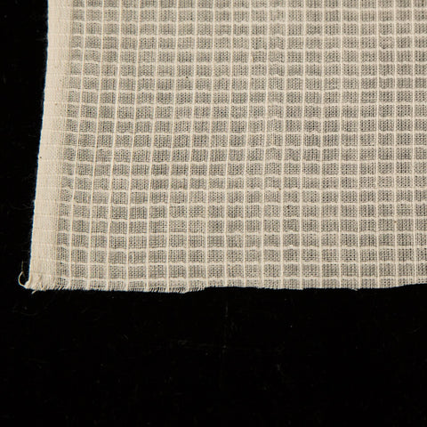 **Sample** - Cotton Natural Grid Design